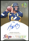 2013 Upper Deck SP Authentic Sign of the Times Gold #STAR Aaron Rodgers 1/7