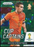 2014 Panini Prizm World Cup Cup Captains Prizms Green Crystal #17 Kevin Strootman 15/25