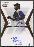 2012 Leaf Ultimate Draft #YP1 Yasiel Puig Rookie Auto