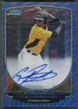 2013 Bowman Chrome #GP Gregory Polanco Blue Wave Refractor Rookie Auto #35/50