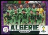 2014 Panini Prizm World Cup Team Photos Prizms Purple #1 Algeria /99