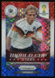 2014 Panini Prizm World Cup World Cup Stars Prizms Red White and Blue #46 Jurgen Klinsmann