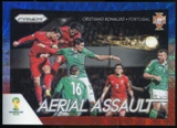 2014 Panini Prizm World Cup Aerial Assault Prizms Blue and Red Wave #1 Cristiano Ronaldo