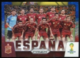 2014 Panini Prizm World Cup Team Photos Prizms Blue and Red Wave #29 Espana