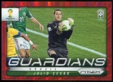 2014 Panini Prizm World Cup Guardians Prizms Red #5 Julio Cesar /149