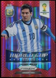 2014 Panini Prizm World Cup World Cup Stars Prizms Red #1 Lionel Messi /149