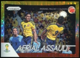 2014 Panini Prizm World Cup Aerial Assault Prizms Yellow and Red Pulsar #5 Radamel Falcao