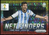 2014 Panini Prizm World Cup Net Finders Prizms Yellow and Red Pulsar #2 Lionel Messi