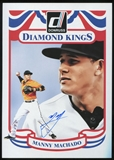 2014 Donruss Diamond King Box Toppers Signatures #21 Manny Machado