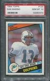 1984 Topps Football #123 Dan Marino Rookie PSA 10 (GEM MT) *3473