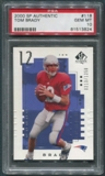 2000 SP Authentic #118 Tom Brady Rookie #0213/1250 PSA 10 (GEM MT) *3824