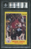 1986 Star Court Kings #18 Michael Jordan BGS 9 (MINT) *9281