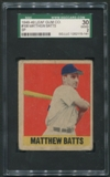 1948 Leaf Baseball #108 Matthew Batts SGC 30 2 (GOOD) *5141