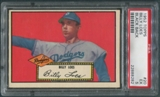 1952 Topps Baseball #20 Billy Loes Black Back SP Rookie PSA 5 (EX) *8282