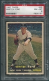 1957 Topps Baseball #25 Whitey Ford PSA 8 (NM-MT) *5157