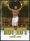 2010 Ringside Boxing Round One Gold #31 Lennox Lewis
