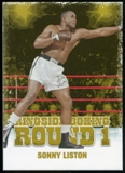 2010 Ringside Boxing Round One Gold #46 Sonny Liston