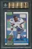 1990 Topps Traded Football #27T Emmitt Smith Rookie BGS 9.5 (GEM MINT) *2032