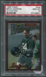 1996 Finest Football #344 Brian Dawkins Rookie W/ Coating PSA 10 (GEM MT) *5641