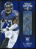 2014 Totally Certified Rookie Penmanship Blue #RPCM C.J. Mosley Serial #'d 16/25