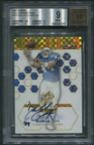 2003 Finest #133 Dallas Clark Gold Refractor Rookie Auto #19/50 BGS 9 (MINT) *7285