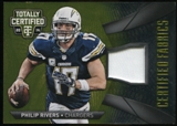 2014 Totally Certified Certified Fabrics Prime Gold #CFPR Philip Rivers Serial # 07/25