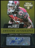 2014 Totally Certified Awesome Autographs Gold #AAMJ Mike James Serial # 11/25