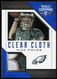 2014 Totally Certified Clear Cloth Prime Blue #CCNF Nick Foles Serial # 07/50 4 Color