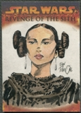 2005 Topps Star Wars Revenge Of The Sith Padme Amidala Sketch #1/1