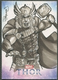 2011 Upper Deck Thor The Mighty Avenger Thor Sketch #1/1
