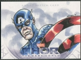 2013 Upper Deck Thor The Dark World Captain America Sketch #1/1