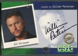 2004 CSI Series Two #CSIB1 William Petersen as Gil Grissom Auto
