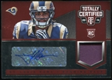 2014 Totally Certified Rookie Autograph Jerseys Platinum Red #196 Tre Mason # 30/50