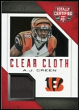 2014 Totally Certified Clear Cloth #CCAGR A.J. Green Serial #66/100