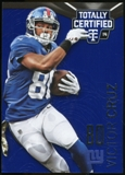 2014 Totally Certified Platinum Blue #63 Victor Cruz Serial # 50/50