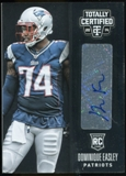 2014 Totally Certified Rookie Signatures #133 Dominique Easley