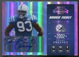 2002 Playoff Contenders #128 Dwight Freeney Rookie Auto #277/410