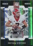 2009 Donruss Elite #165 Matthew Stafford Rookie Turn of the Century Auto #130/200
