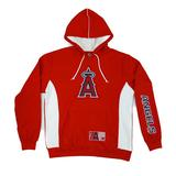 Los Angeles Angels Majestic Red Stadium Wear Team Logo Hoodie (Adult XL)