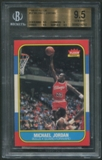 1986/87 Fleer Basketball #57 Michael Jordan Rookie BGS 9.5 (GEM MINT) *4762