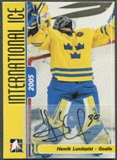 2006/07 ITG International Ice #AHL Henrik Lundqvist Auto