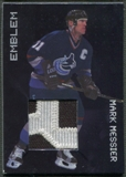 1999/00 BAP Millennium #E11 Mark Messier Jersey Patch Emblem /20