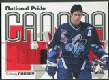 2005/06 ITG Heroes and Prospects #NPR11 Sidney Crosby National Pride Rookie Jersey Black and Red /60