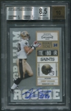 2010 Playoff Contenders #151 Jimmy Graham Rookie Auto BGS 8.5 (NM-MT+) *7295