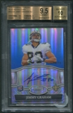 2010 Bowman Sterling #BSAJG Jimmy Graham Blue Refractor Rookie Auto #15/99 BGS 9.5 (GEM MINT) *2171