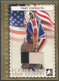 2006/07 Between The Pipes #PC19 Tony Esposito Playing For Your Country Gold Jersey /10