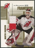 2003/04 ITG Used Signature Series #18 Martin Brodeur Franchise Gold Jersey /10
