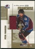 2003/04 ITG Used Signature Series #8 Peter Forsberg Franchise Gold Jersey /10