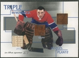 2003/04 ITG Used Signature Series #23 Jacques Plante Pad Glove Jersey /35
