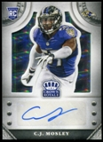 2014 Crown Royale Rookie Signatures Silver Plaid #SCM C.J. Mosley Serial # 6/35